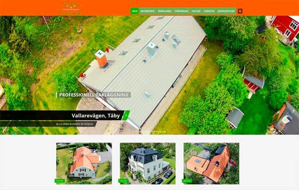 Розробка і дизайн сайту по ремонту та встановлення дахів