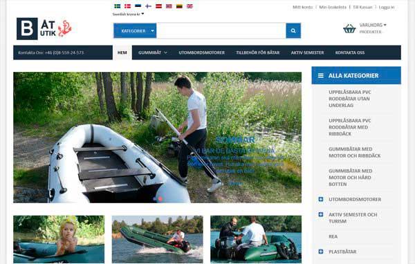 Разработка и дизайн сайта по продаже лодок