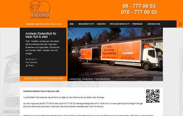 Розробка і дизайн сайту компанії з вантажоперевезень