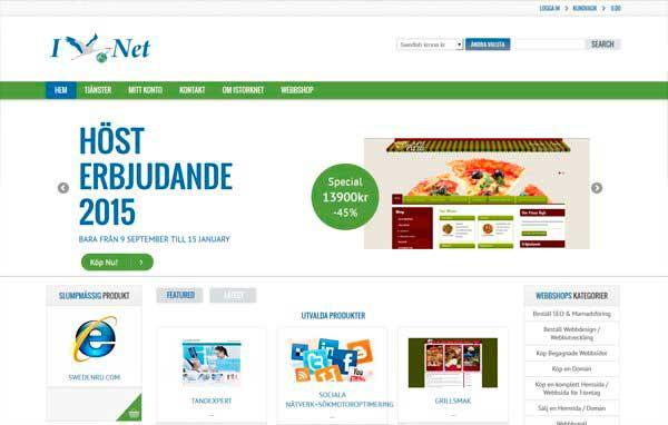 Розробка і дизайн сайту Магазин шаблонів