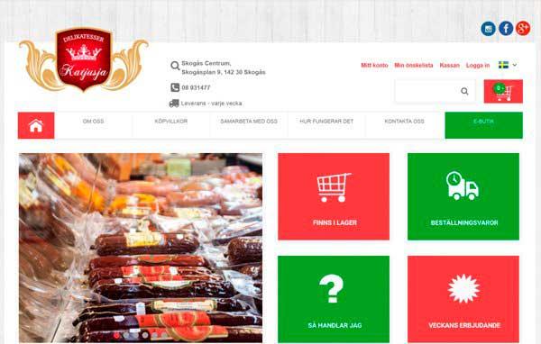 Розробка і дизайн сайту Магазин продуктів