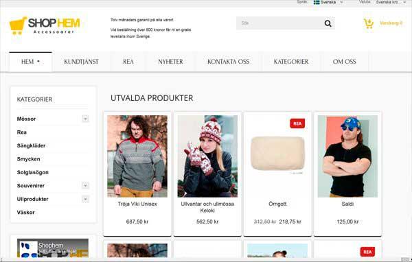 Розробка і дизайн сайту магазину одягу