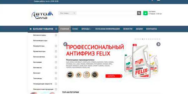 Разработка и дизайн интернет магазина автозапчастей