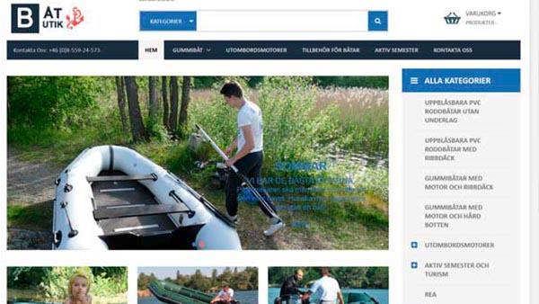 Разработка и дизайн сайта, интернет магазина лодок