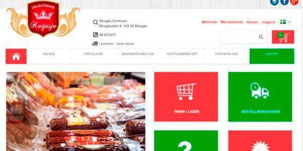 Разработка и дизайн интернет магазина продуктов