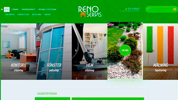 Разработка и дизайн сайта клининговой компании